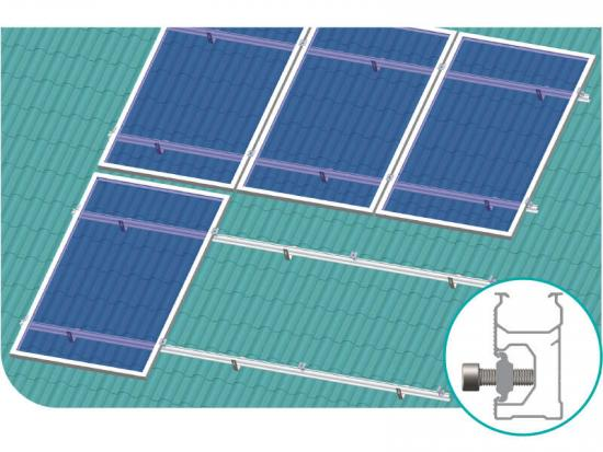 Solar panel roof mounts